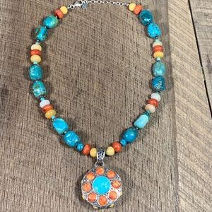 Barse 925 Sterling Silver Southwest Style Necklace